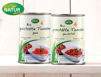Bio-Tomaten, geschält, Mai 2014