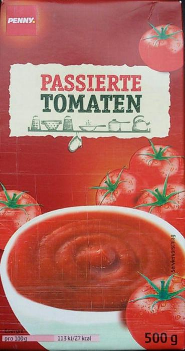 Passierte Tomaten, Juli 2017