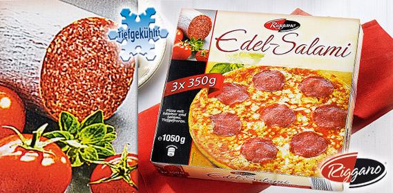 Edel-Salami-Pizza, 3x 350 g, Mai 2011