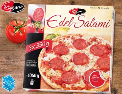Edel-Salami-Pizza, 3x 350 g, Mai 2013