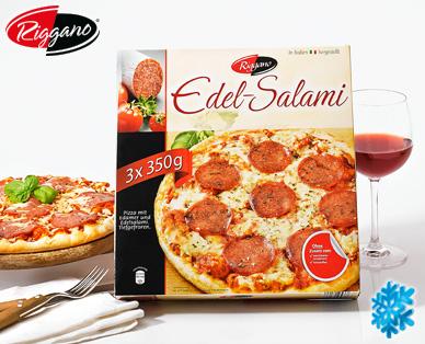 Edel-Salami-Pizza, 3x 350 g, August 2014