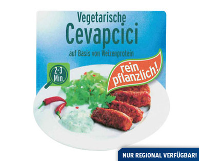 Cevapcici, vegetarisch, Mai 2014