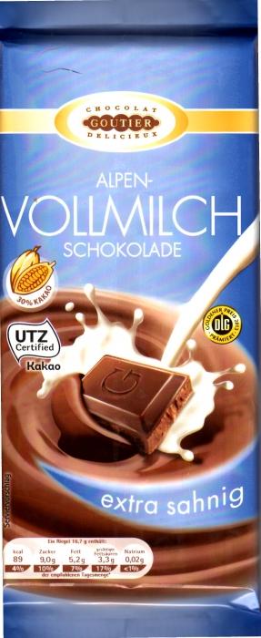 Alpenvollmilchschokolade, Juli 2014