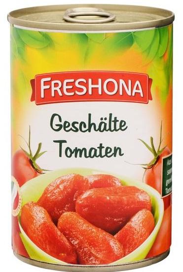 Geschälte Tomaten, Juni 2017
