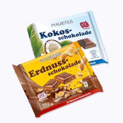 Erdnuss-/Kokosschokolade, September 2014