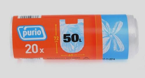 Müllbeutel mit Griff, 50 L, November 2014