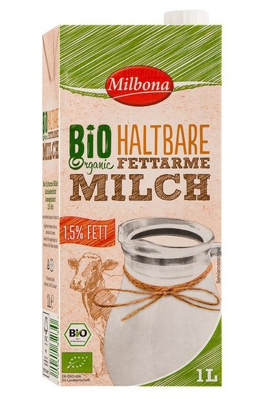 Bio Frische fettarme Milch, 1,5% Fett, Oktober 2017