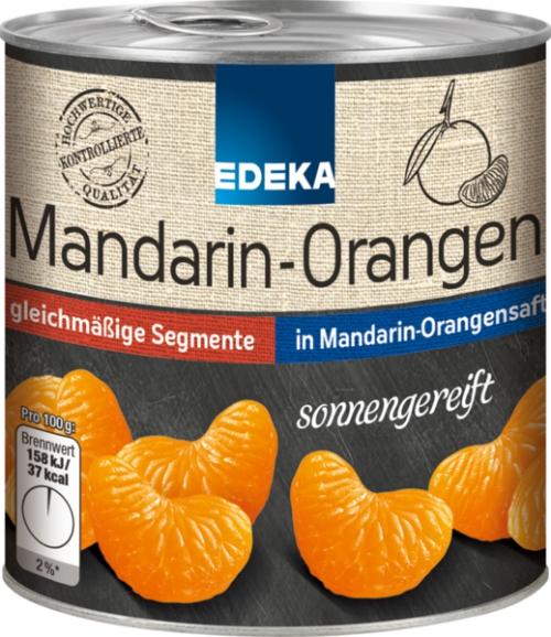 Mandarin-Orangen in Saft, Januar 2018