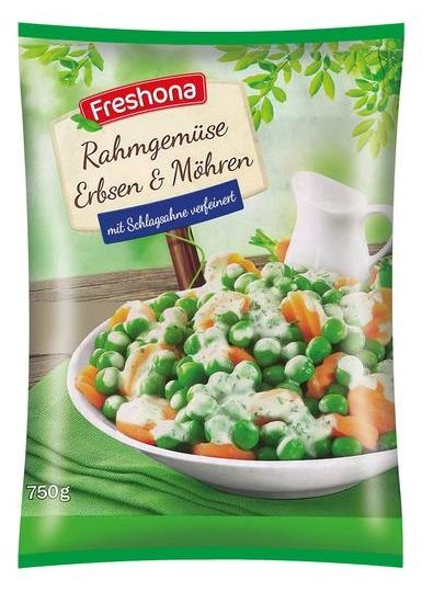 Rahmgemüse - Erbsen und Karotten, Juni 2017