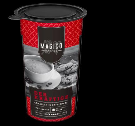 Kaffee-Pad, kräftig, Januar 2018