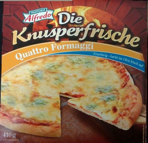 Pizza Die Knuperfrische, Quattro Formaggi, Juni 2017