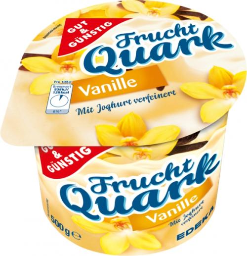 Fruchtquark Vanille, Januar 2018