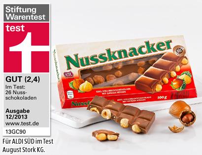 Vollmilch-Nuss-Schokolade, Februar 2014