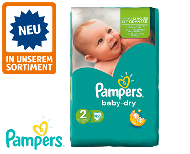 Pampers baby dry, Größe 2 mini, April 2016