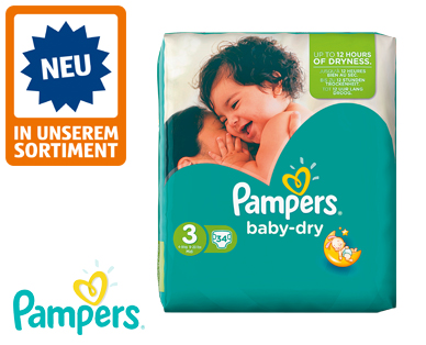 Pampers baby dry, Größe 3 midi, April 2016