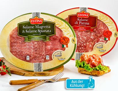 Original italienische Salami-Spezialitäten, April 2014