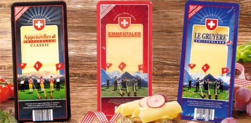 Schweizer Käse, in Scheiben, Januar 2008