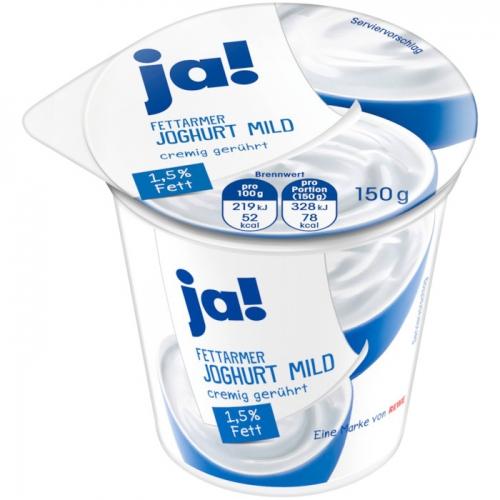 Fettarmer Joghurt mild, 1,5 % Fett, Oktober 2017