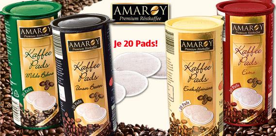 amaroy r stkaffee kaffee pads von aldi s d. Black Bedroom Furniture Sets. Home Design Ideas