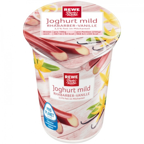 Joghurt mild Rhabarber-Vanille, Januar 2018