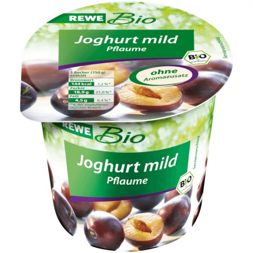 Joghurt mild Pflaume, Dezember 2017
