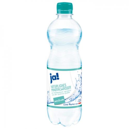 Mineralwasser Medium 0,5l, Februar 2017