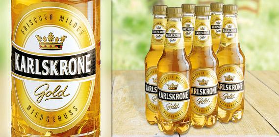Gold Bier, 6x 0,5 L, August 2010