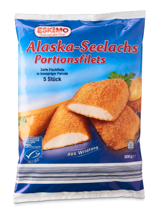 Alaska-Seelachs Portionsfilets, August 2017