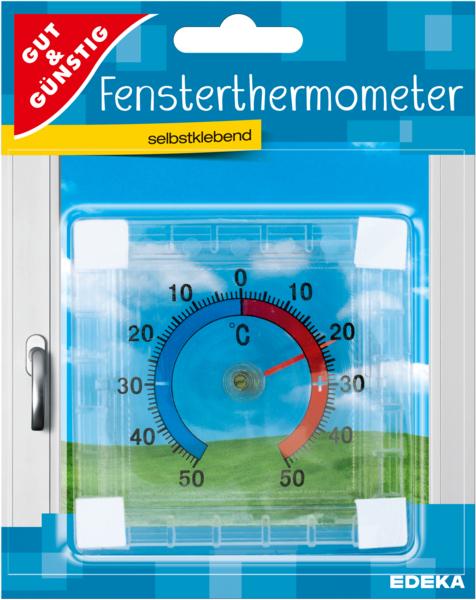 Fensterthermometer, Januar 2018