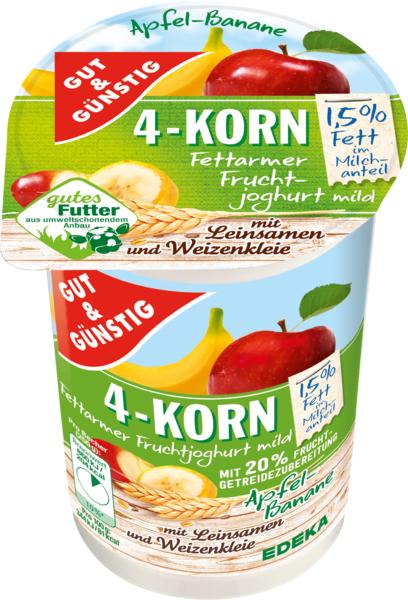 4-Korn-Fruchtjoghurt Apfel-Banane, Januar 2018