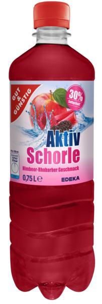 Aktiv-Schorle Himbeer-Rhabarber 6x0,75l, Januar 2018