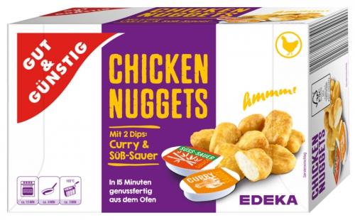 Chicken Nuggets mit Dip, Januar 2018
