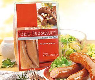 Käse-Bockwurst, 4x 100 g, November 2007