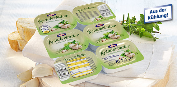 Kräuterbutter, 6x 20 g, April 2012
