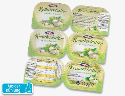 Kräuterbutter, 6x 20 g, April 2014