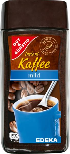 Instantkaffee mild, Februar 2018