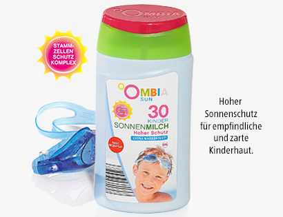 Sonnencreme oder Sonnenmilch für Kinder, LSF 30, Juni 2014