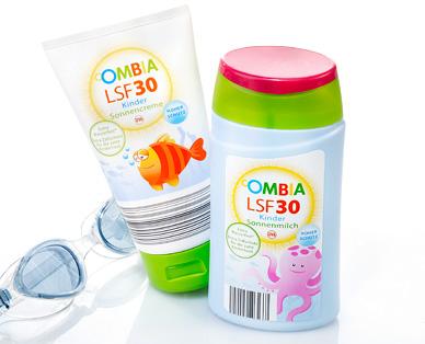 Sonnencreme oder Sonnenmilch für Kinder, LSF 30, August 2015