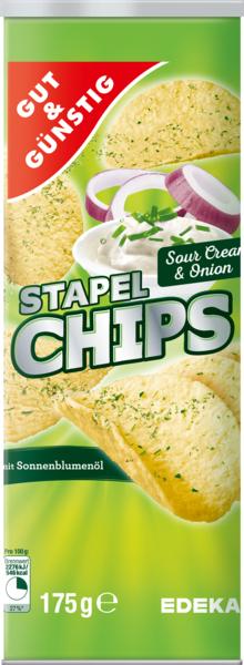 Stapelchips Sour Cream & Onion, Februar 2018