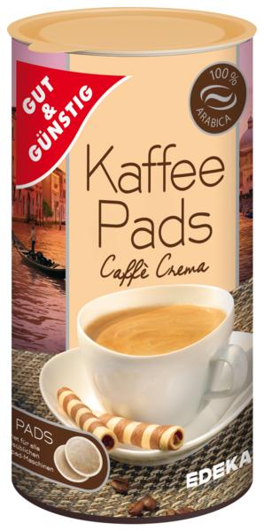 Kaffeepads Caffè Crema, Februar 2018