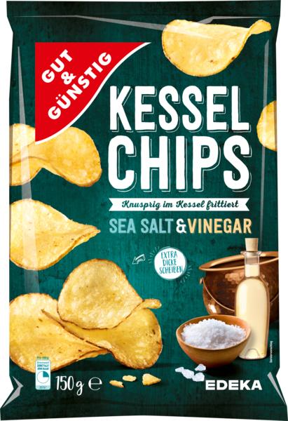 Kesselchips Sea Salt & Vinegar, Februar 2018