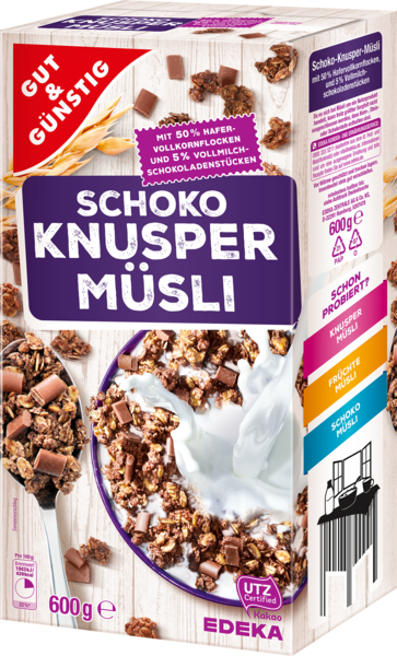 Knuspermüsli Schoko, Februar 2018
