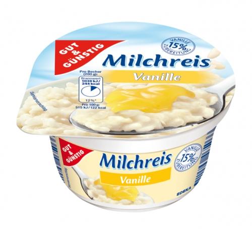 Milchreis Vanille, Februar 2018