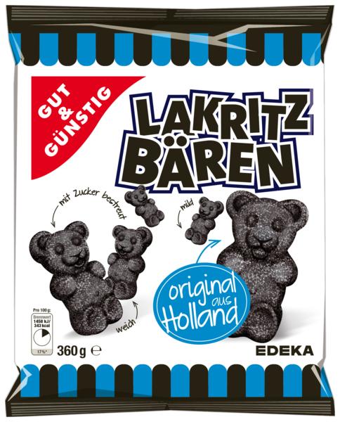 Lakritz-Bären mit Zucker bestreut, Februar 2018