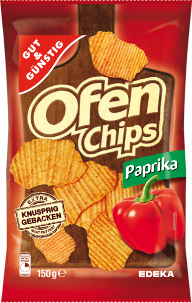 Ofenchips Paprika, Februar 2018