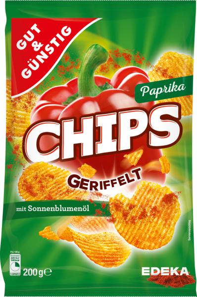 Paprika-Chips geriffelt, Februar 2018