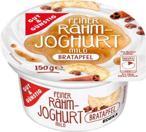Rahmjoghurt Bratapfel, Februar 2018