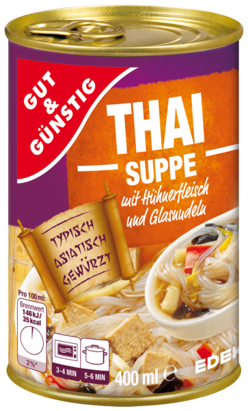 Thaisuppe, Februar 2018