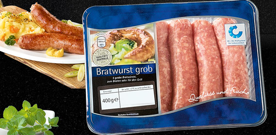 Bratwurst, grob, 5er, November 2010