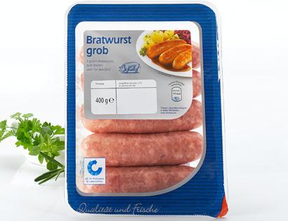 Bratwurst, grob, 5er, Juni 2013